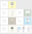 Set of Flyer Brochure Design Templates for Busine vector image vector image