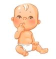 Portrait of curiuos little baby vector image