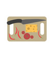 board chopping cutting food kitchen cooking vector image