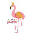 cute little princess abstract background with pink vector image