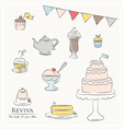 food and drinks party icons vector image