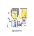 Medical consultation Diabetes line icon vector image
