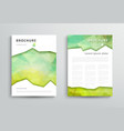 set of brochure design template vector image