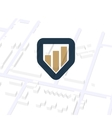 Business navigator unusual logo Pointer vector image vector image