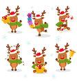 Cute Reindeer Set vector image vector image