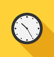 Flat style clock icon vector image