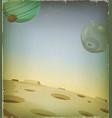 scifi grunge alien planet background vector image