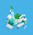 midgets and medication concept vector image