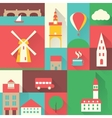 Europe city set vector image
