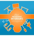 Interior circle infographics vector image vector image