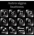 astro sign buttons vector image