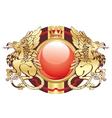 golden crest vector image vector image