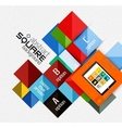 Geometric square shapes and infographic option vector image