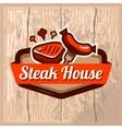 steak house logo vector image vector image