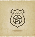 police badge symbol old background vector image