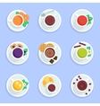 Coffee tea drinks and cocktails flat icons set vector image