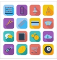 Color flat icons 6 vector image