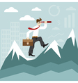 concept flat design with businessman spyglass and vector image