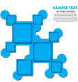 design frame and free space text vector image