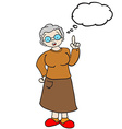 grandmother with thought bubble vector image