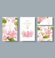 lotus banners set vector image