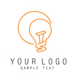 outline logo intellect vector image