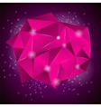 Pink Polygonal Stone vector image
