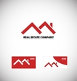 Real estate red house roof logo vector image