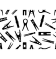 Seamless clothespin background vector image