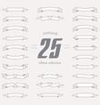 set of ribbon shapes collection of vintage design vector image