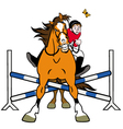 showjumping vector image