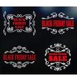 vintage badges for black friday sale vector image
