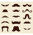 Stylish Retro Mustaches big collection vector image