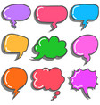 art of text balloon colorful vector image