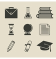 Education icons set - vector image