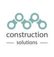 Construction company logo universal template vector image