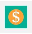 Dollar coin icon vector image vector image