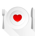 Valentine Love Plate vector image