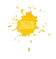Abstract watercolor aquarelle hand drawn yellow vector image vector image