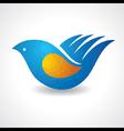 Creative idea - hand make a bird vector image vector image