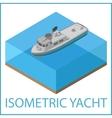 Motor Yacht flat Rowboat isometric vector image