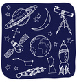 Astronomy - space and night sky objects vector image