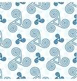 Blue triskel celtic symbols seamless pattern vector image