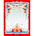 Bright circus frame vector image