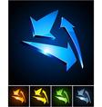 Color vibrant emblems vector image