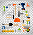 house repair construction or working tools vector image
