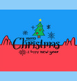 merry christmas and happy new year drawn style vector image