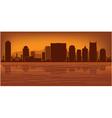 Nashville tennessee skyline vector image