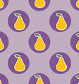 Pear pattern Seamless texture with ripe pears vector image