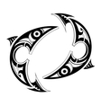 Pisces zodiac symbol vector image